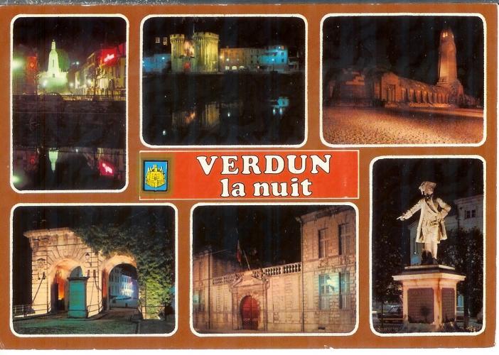 cpsm 55 Verdun la nuit  * Multivues , écrite 1992