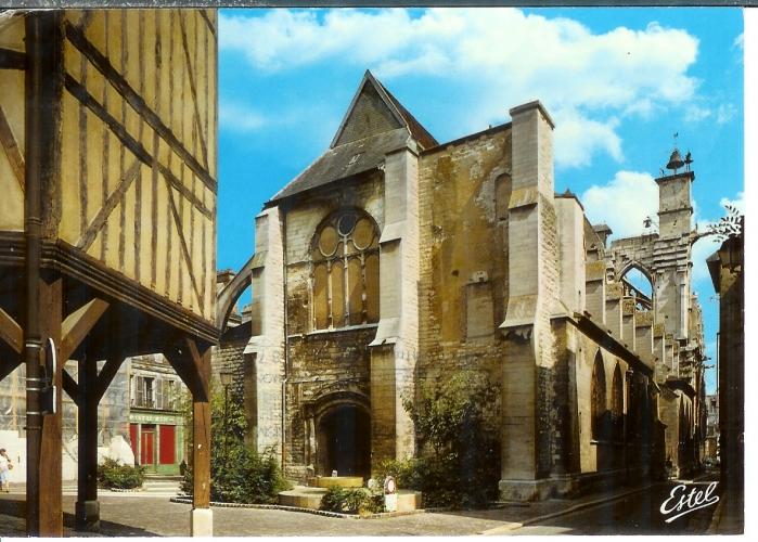 cpsm 10 Troyes , l'église saint jean et son minaret , voyagée