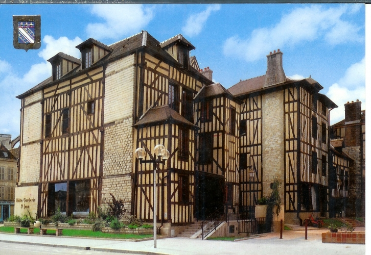 cpsm 10 Troyes , maison champenoise , voyagée