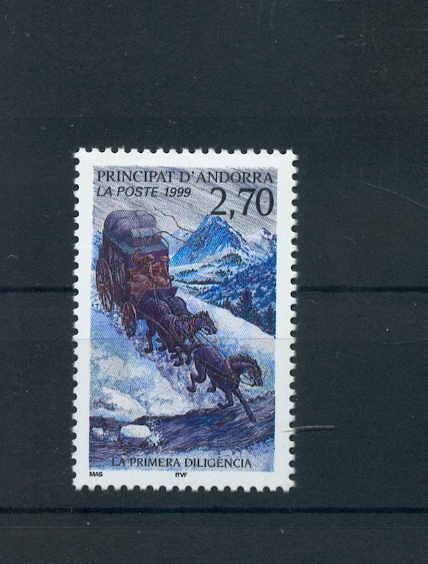 Andorre 516 première diligence 99 neuf ** luxe MNH SIN CHARNELA faciale 0.41