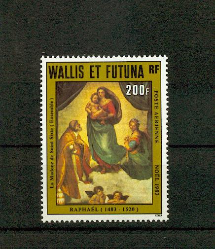 Wallis et Futuna PA 131 1983 NOËL tableau de raphael neuf ** TB MNH sin charnela faciale 1.7