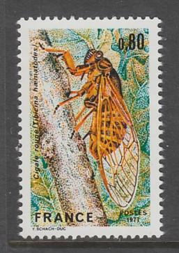TIMBRE NEUF DE FRANCE - LA CIGALE ROUGE N° Y&T 1946