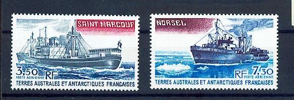 TAAF PA  63 64 1980 bateaux neuf ** TB MNH sin charnela cote 5.9