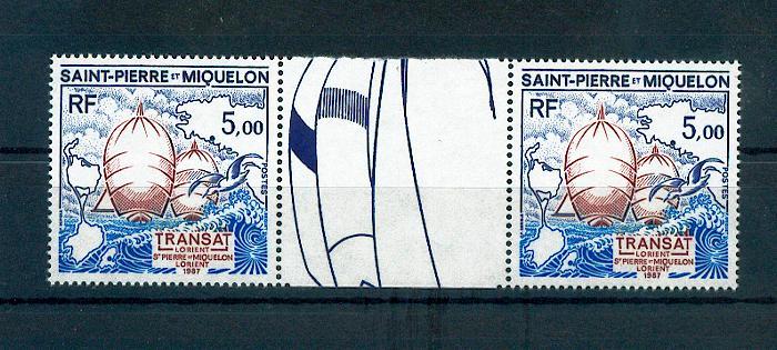 Saint Pierre et Miquelon 477 A 1987 sport la transat neuf TB ** MNH sin charnela cote 8.5