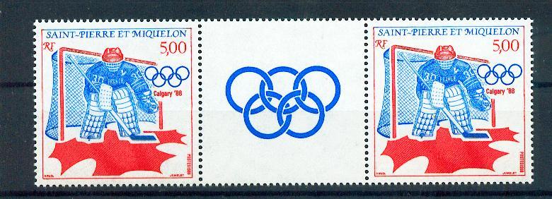 Saint Pierre et Miquelon 487 A 1988 sports JO calgary neuf **TB MNH sin charnela Cote 2.75