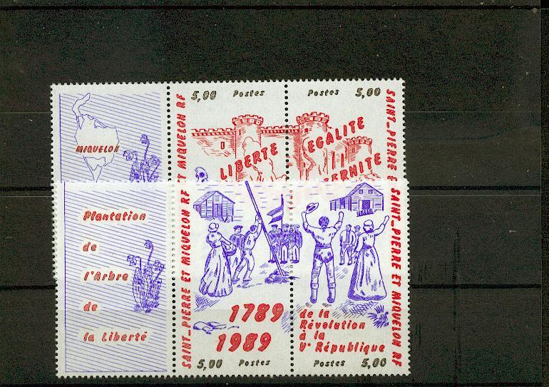 Saint Pierre et Miquelon 504 507 1989 Bicentenair de la Révolution neuf ** TB MNH sin charn cote 11