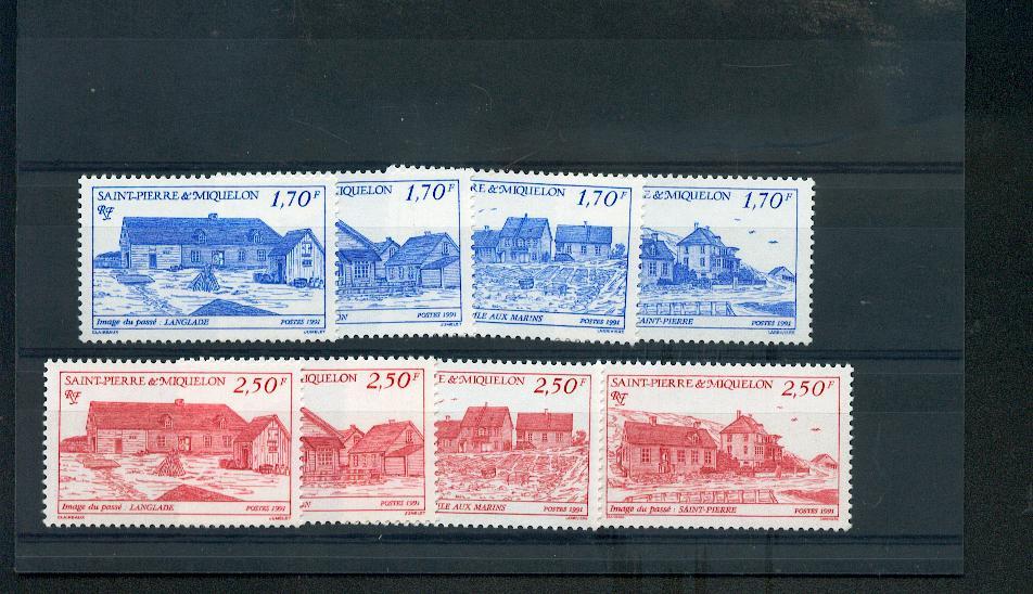 Saint Pierre et Miquelon 537 544 1991 à la faciale maisons neufs TB ** MNH sin charnela
