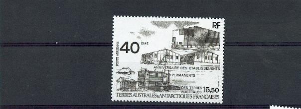 TAAF PA 104 1989 ANNIVERSAIRE DES ETABLISSEMENTS neuf ** TB MNH SIN CHARNELA prix de la poste 2.36