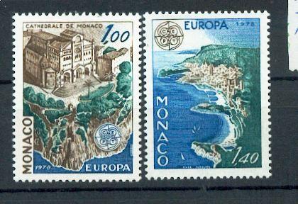 MONACO 1139a à 1140a 1978 1/4 de cote Europa cathédrale et principauté  neuf ** TB MNH SIN CHARNELA
