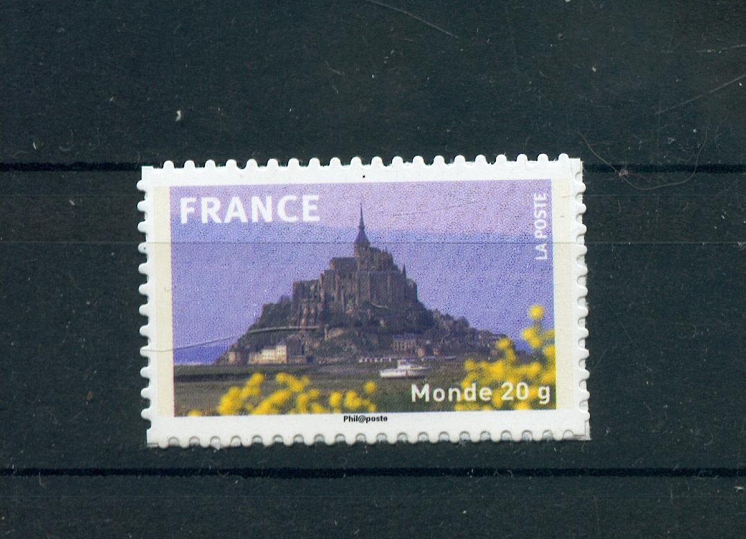 France  334a Mont saint Michel autoadhésif d'entreprise TB** MNH sin charnela  prix de la poste 1.5