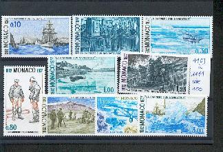 MONACO 1103 1111 1/4 de cote 1977 Albert Ier navigateur  neuf ** TB MNH SIN CHARNELA Cote 17.5 euros