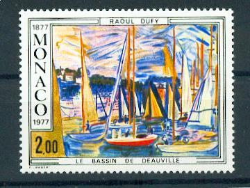 MONACO 1097 1977 1/4 de cote tableau dufy deauville  neuf ** TB MNH SIN CHARNELA Cote 5.5 euros