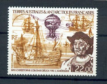 TAAF PA 122 1992 Christophe Colomb  neuf ** TB MNH sin charnela prix de la poste 3.35