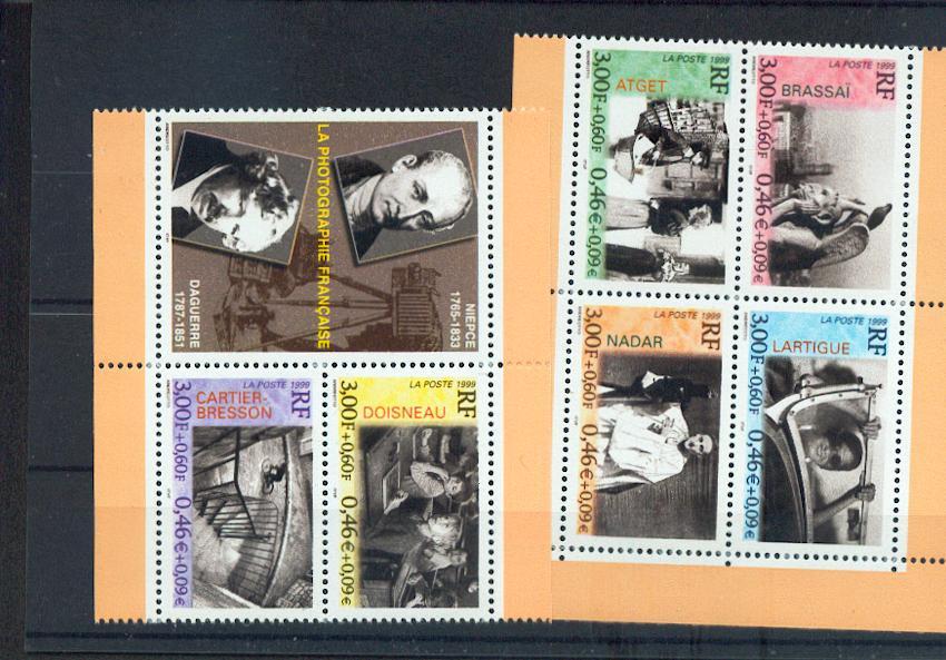 France 3262 à 3267 grands photographes Français neuf luxe ** MNH sin charnela prix de la poste 3.3