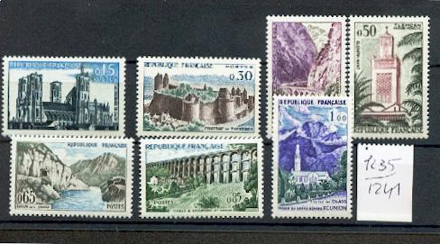 France 1235 1241 1960 1/4 de cote série Touristique neuf ** TB MNH cote 14 euros