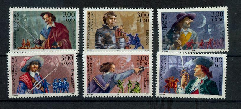 France 3115 3120 personnages célèbres de romans 1997  neuf ** TB MNH prix de la poste 3.3