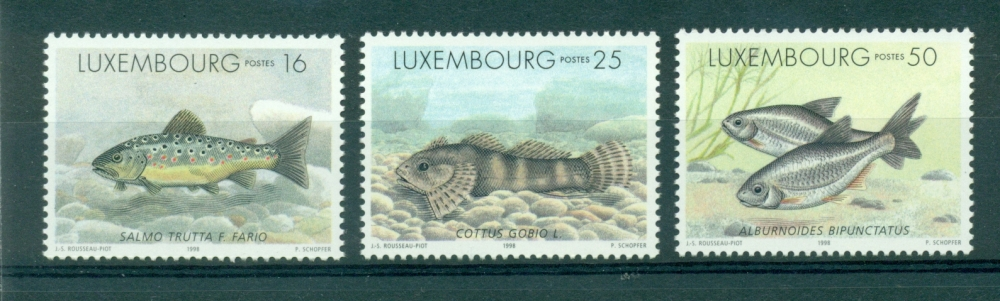 Luxembourg - 1998 - TP 1387 / 9 - Animaux - Poissons -  Neuf ** NMH