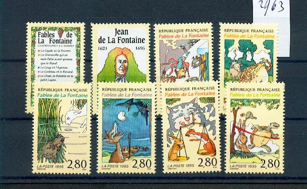 France 2958 2963 1995 fables de La Fontaine  neuf **TB MNH cote 10