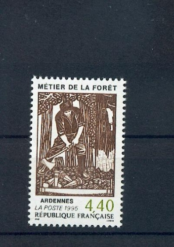 France 2943 métiers e la forêt bucheron 1995 neufs ** TB MNH sin charnela prix poste 0.42