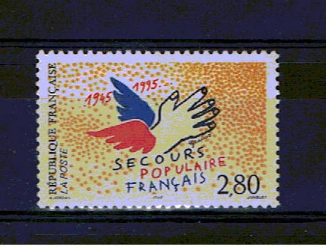 France 2947 Secours populaire 1995 neufs ** TB MNH sin charnela prix poste 0.42