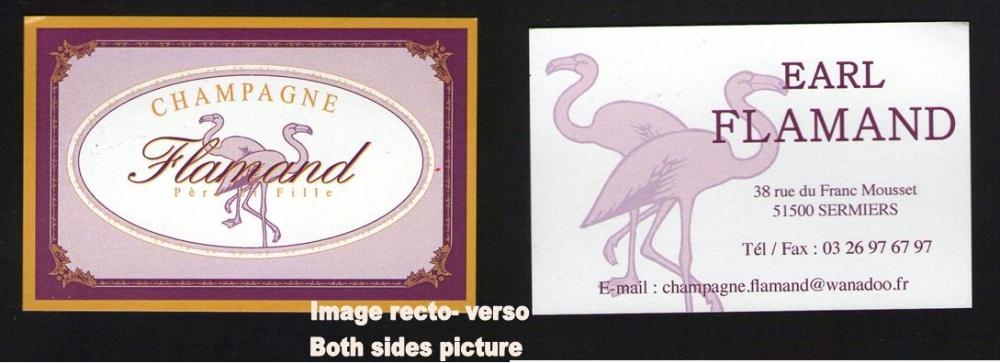 Carte De Visite Business Card Champagne FLAMAND SERMIERS 51