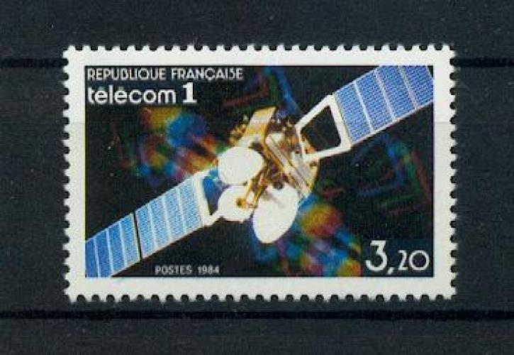 France 2333 SATELLITE TELECOM 1 1984 neufs ** TB MNH sin charnela faciale 0.49