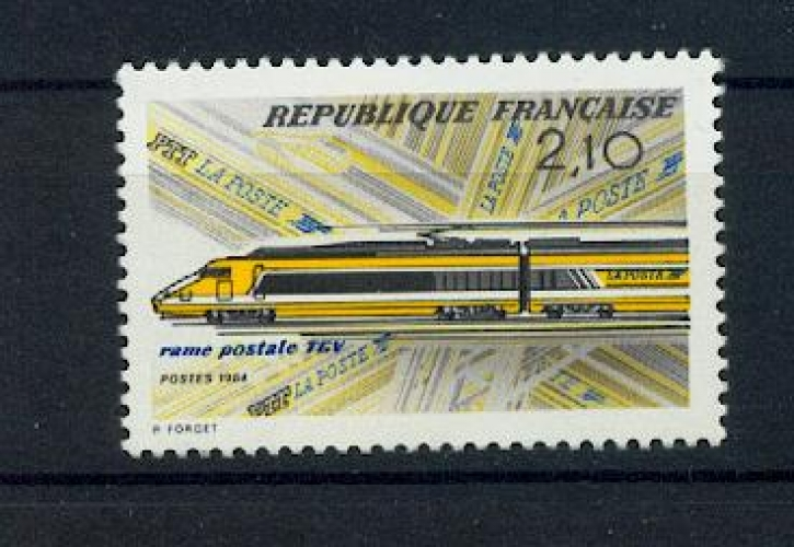 France 2334 TRAINS TGV POSTAL 1984 neufs ** TB MNH sin charnela faciale 0.32