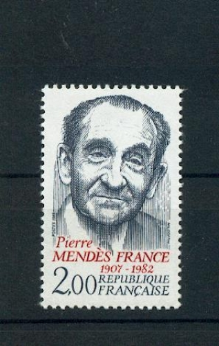 France 2298 PERSONNAGES MENDES FRANCE 1983 neufs ** TB MNH sin charnela faciale 0.3