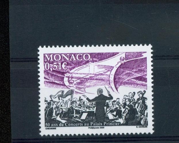 MONACO 2681 orchestre 2009 neufs ** luxe prix de la poste 0.51