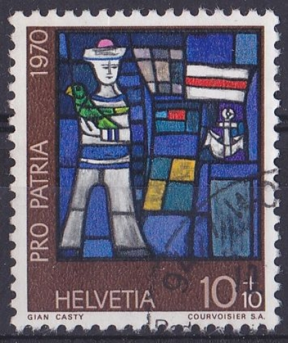 SUISSE 1970 OBLITERE N° 857