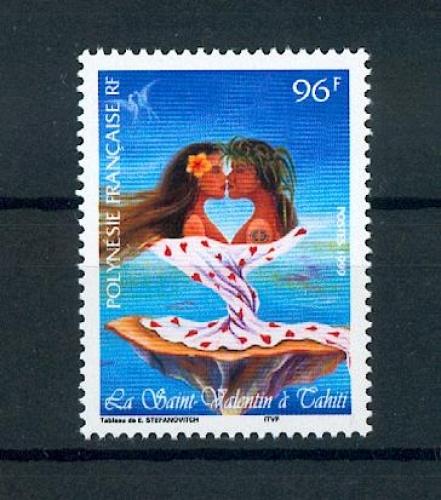 Polynésie 578 1999 st valentin neuf ** TB MNH SIN CHARNELA prix de la poste 0.8