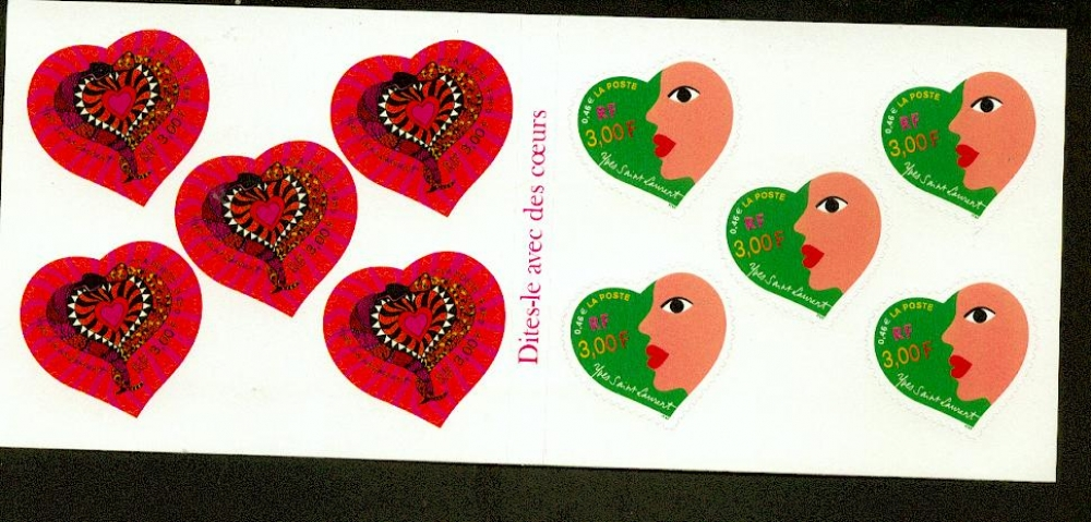 France   27 bc je vous aime coeurs saint valentin non plie neufs ** TB cote 20