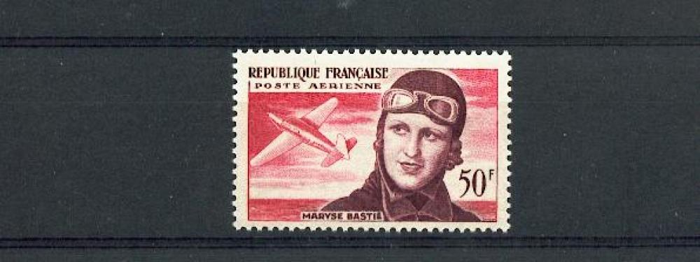 France PA 34 1/4 de cote Maryse Bastié neuf** TB mnh sin charnela cote 8