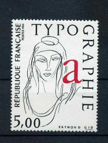 France 2407 allégorie la typographie neuf ** TB MNH sin charnela faciale 0.76
