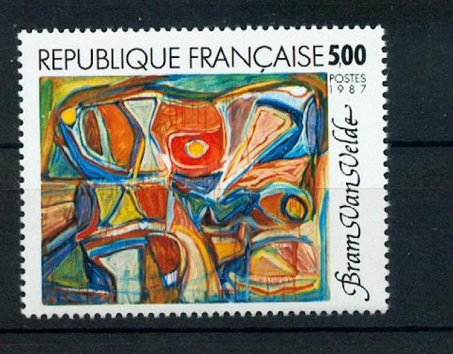 France 2473 tableau de Bram van velde neuf ** TB MNH sin charnela faciale 0.76