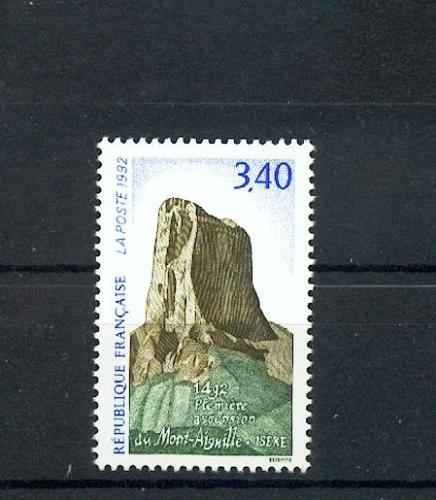 France 2762 ascencion du mont aiguille 1992 neufs ** LUXE MNH sin charnela  prix de la poste 0.52