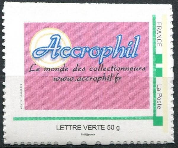 France - COLLECTOR - Voir fiche - MonTimbreaMoi  Accrophil - lettre verte 50 grammes