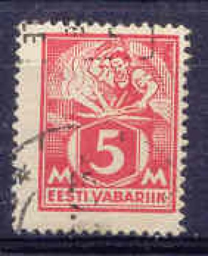 Estonie 1922 YT 54 Obl Metier Metallurgiste