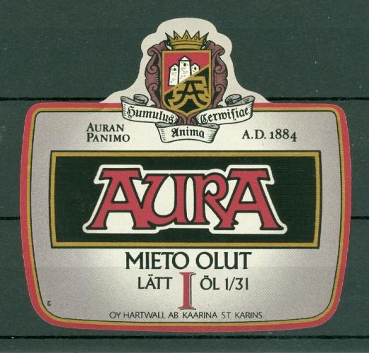Etiquettes de Bière - Finlande - Oy Hartwall AB Kaarina - Sankt - Karins