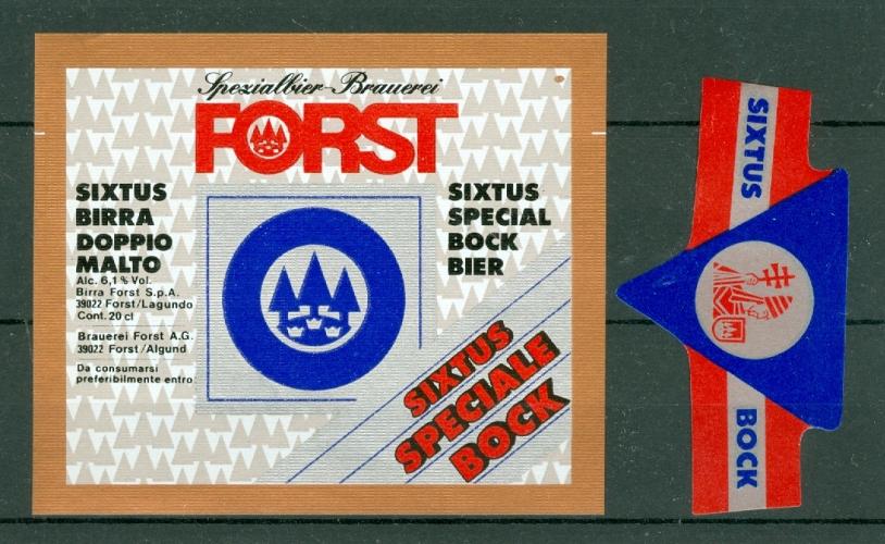 Etiquette de Bière - Italie - Birra Forst - Merano