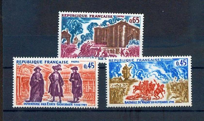 France 1678 1680 1/4 de cote 1971 série historique neufs ** TB MNH sin charnela cote 2.45