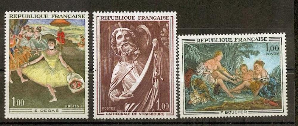 France 1652 1654 1970 1/4 de cote Œuvres d´Art  Degas Manet neufs ** TB MNH , sin charnela cote 3