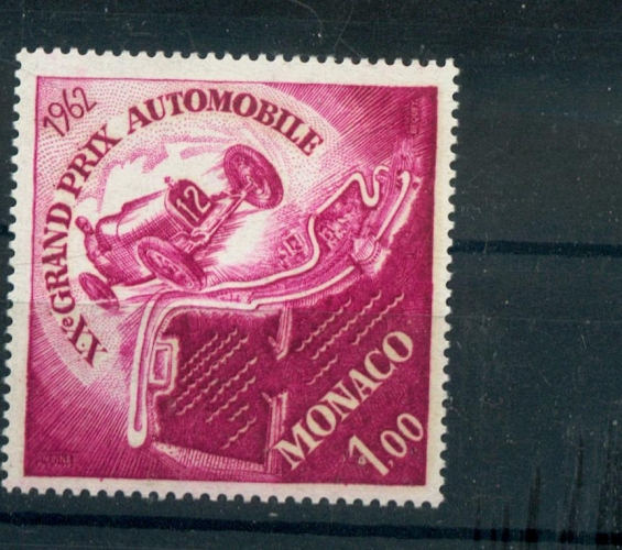 MONACO  574 1962 1/4 de cote grand prix de Monaco neufs ** TB MNH cote 2.2 euros