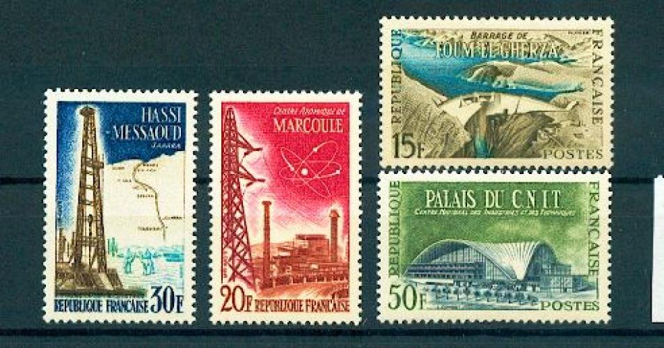 France 1203 1206 1/4 de cote Réalisations Techniques 1959 neuf ** TB MNH cote 3