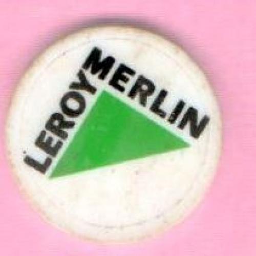 Caddie : Magasin LEROY MERLIN plastique blanc