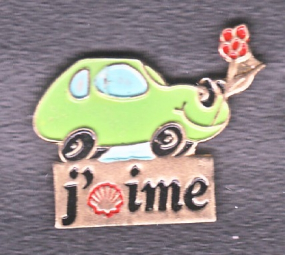 PIN'S SHELL J'AIME (AUTOMOBILE)