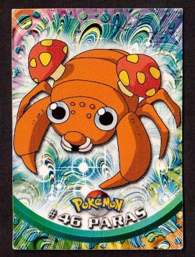 Carte Pokemon 46 Paras type Insecte TOPPS 1995-96-98 Editeur Nintendo