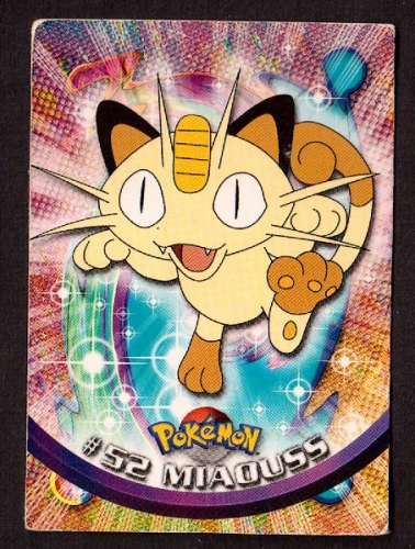 Carte Pokemon 52 Miaouss type Normal TOPPS 1995-96-98 Editeur Nintendo