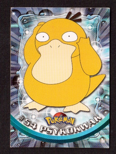 Carte Pokemon 54 Psykokwak type Eau TOPPS 1995-96-98 Editeur Nintendo