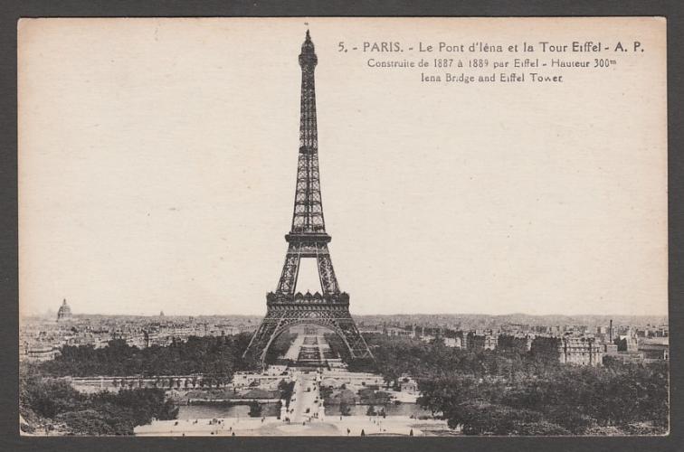 CPA PARIS - LE PONT D'IENA ET LA TOUR EIFFEL